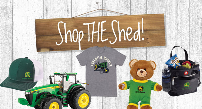 Shop the Shed for John Deere merch and more »